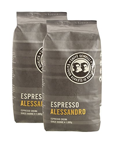 Caffè Gemelli Ganze Bohne Espresso Deluxe Alessandro 2er Pack (2 x 1000g)
