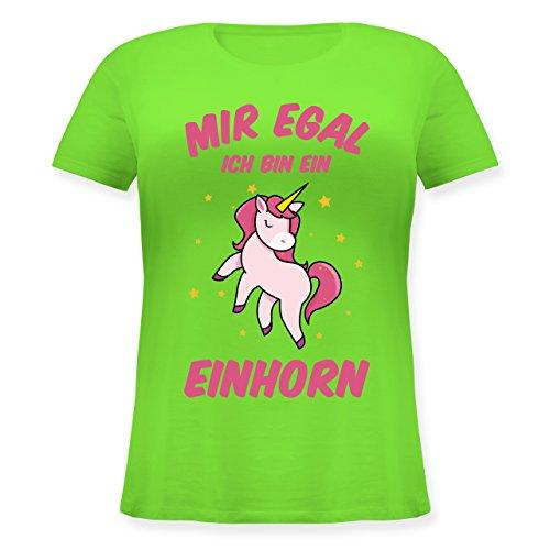 Einhörner - Mir Egal Ich Bin ein Einhorn - Lockeres Damen-Shirt in Großen  Größen