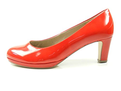 Gabor 81-260 Schuhe Damen Lack Plateau Pumps Weite F, Schuhgröße:39, Farbe:Rot
