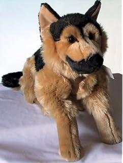 Plüschhund Hund Plüsch 44 cm liegend Plüschtier Stofftier Stoffhund Kuscheltier