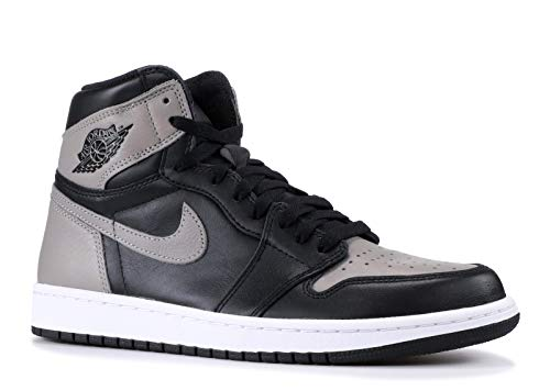 Nike Air Jordan 1 Retro High OG, Scarpe da Ginnastica Uomo, Nero (Black/Medium Grey/White 013), 44.5 EU