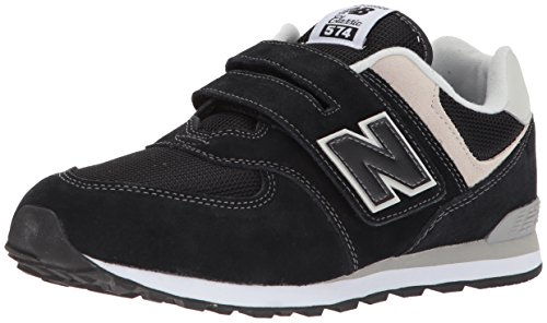 Sneakers Balance Boy New Toddler (New Balance Boys' 574v1 Essentials Hook and Loop Sneaker, Black/Grey, 9 M US Toddler)