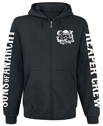 Sons Of Anarchy Reaper Crew Sudadera capucha con cremallera Negro XXL