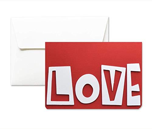 Große Liebe - Liebe - Valentinstag - Grußkarte mit Umschlag (10,5 x 15 cm) - handgemachte Karte - freier raum nach innen (Valentinstag-karten Große)