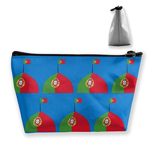 Portugal Logo Flagge Frauen Kosmetiktaschen Tragbare Tasche Trapez Aufbewahrungstasche Reisetasche mit Reißverschluss (Portugal-logo)