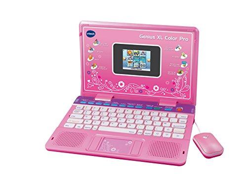 VTech - Genius Color XL Pro Bilingüe, Computer Kid, Rose (133865) (versión en inglés)