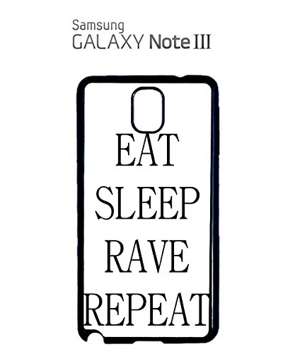 Eat Sleep Rave Repeat Party Mobile Cell Phone Case Samsung Galaxy S5 Mini Black Noir