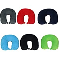Betz Travel Neck Pillow Pillow Neck Pillow 6 Colours Relax Pillow with Micro Pellet Filling, Polyester, black, 31x32 cm