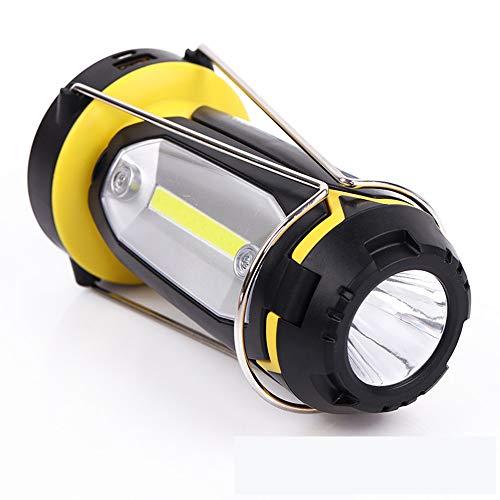 endes Licht/tragbares geführtes Zelt/tragbares Licht USB-aufladbare Taschenlampe-Tischlampe 3 in 1 verwendbar für das Wandern kampierende Ausschaltenscheinwerfer ()