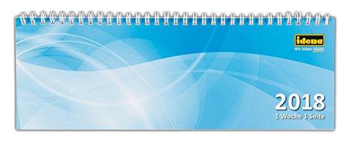 Idena 10701 Tischkalender 2018, FSC-Mix, quer, 1 Woche/1 Seite, 28,7 x 10 cm