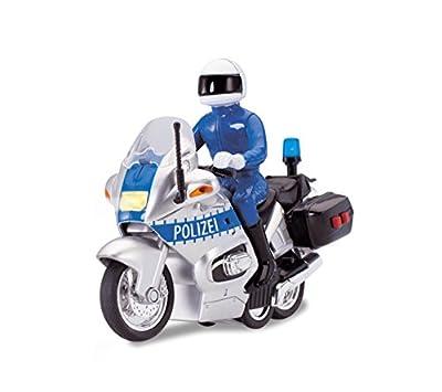Dickie Toys 203712004 - Police Bike, Polizeimotorrad, 15 cm von Dickie-Spielzeug