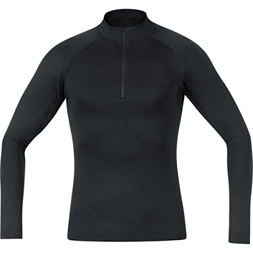 GORE BIKE WEAR Base Layer - Camiseta cuello de ciclismo para hombre, color negro, talla M