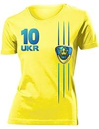 FOOTBALL WORLD CUP - EUROPEAN CHAMPIONSHIP UKRAINE FAN T-Shirt Femme Small - XX-Large