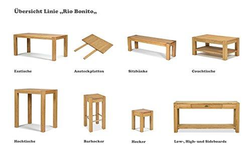 ... Esstisch ,,Rio Bonito,, 80x80 Cm Quadratisch, Pinie Massivholz, ...
