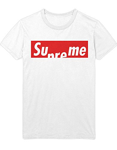 T-Shirt SUPREME Fake Skate and Destroy Aid Skateboard BMX Force Line Longboard Hipster H970006 Weiß (Kostüme Lady Luck)