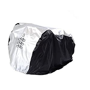Maveek Cycle Cover, 190T Nylon Heavy Duty All Weather Waterproof Bike Cover Dust Resistant UV Protection for Mountain Bike, Road Bike with Clasp System and Adjustable Strap Design Drawstring Storage Bag