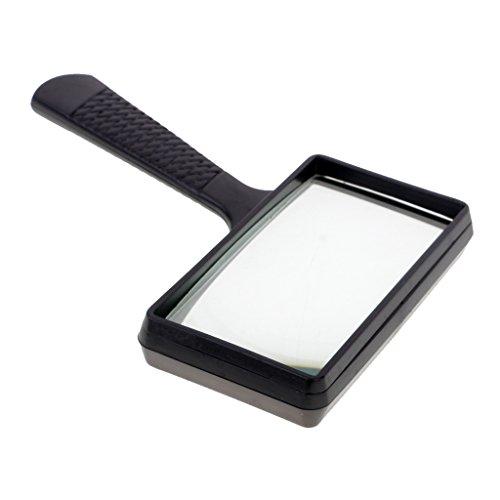 MagiDeal rechteckiges Leselupe Handlupe - 100 x 50 mm Lupe mit Beleuchtung geeignet für Senioren, zum lesen von Büchern, Magazinen, Zeitungen und Landkarten