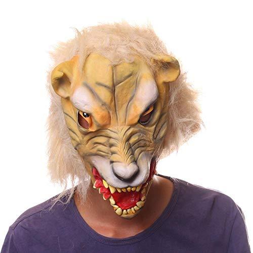 Leopard Kopf Maske Karneval Nacht Kostümball tiermaske Erwachsene Latex Perücke ()