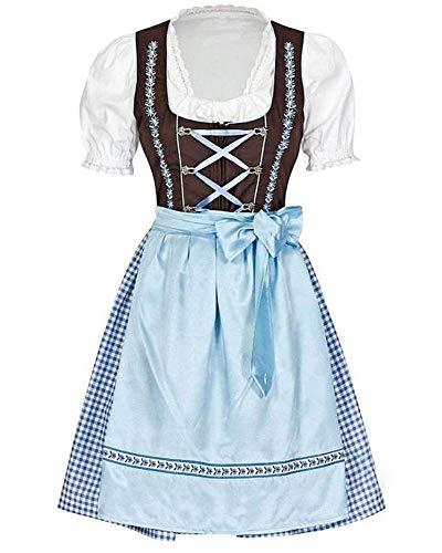 Mädchen Kostüm Ein Bier - Gpptvvf Oktoberfest Damen Maid Kostüm Bayerisch Bier MäDchen Kleid Dirndl Bluse Midi Kurzarm Trachtenkleid
