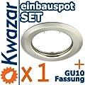 K-15 Einbaustrahler Set inkl. GU10 230V Fassung - nickel matt (INNOX)