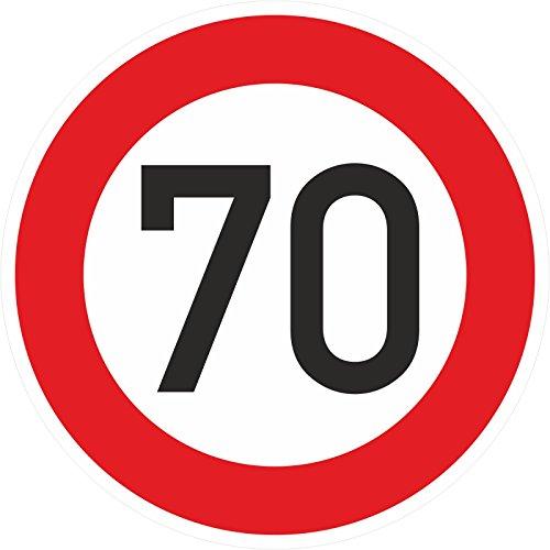 Geburtstagschild 70 Verkehrszeichen Verkehrsschild Straßenschild Schild PVC 40 cm