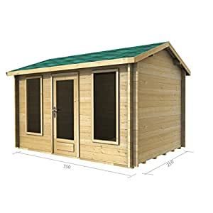 12ft x 8ft (3,5x 2,5m) Log Cabin (2038)–70mm Wandstärke