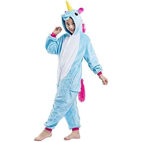 pijama de unicornio kawaii DarkCom Niños De Franela Kigurumi Mamelucos Unicornio Cosplay Traje Lindo Traje De Dormir