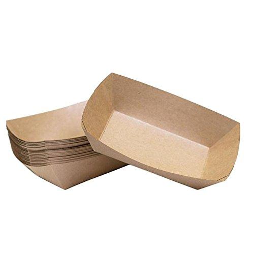 Fablcrew 10 Stück Fingerfood - Schalen Kraftpapier Einweggeschirr für Fingerfood/Buffet/Snacks Obere