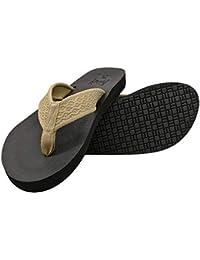 77a3946de346b KuaiLu Mens Yoga Foam Flip Flops Arch Support Non Slip Leather Thong Sandals