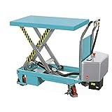 Scheren-Hubtischwagen Ameise, elektrisch, Tragkraft 500 kg - für ein kräfteschonendes Heben auf optimale Arbeitshöhe