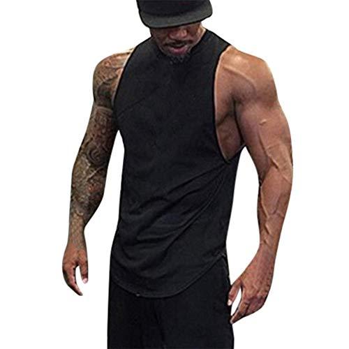 Fenverk MäNner Bauch-KöRper-Former Abnehmend Hemd Elastic Sculpting Weste-TräGer Shaping Weste Herren Figurformendes Kompressions Unterhemd Base-Layer Kurzarm Shirt(Schwarz 1,M)