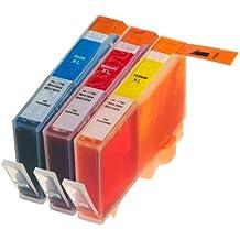 3 Multipack de alta capacidad HP 920 Cartuchos Compatibles 1 ciano, 1 magenta, 1 amarillo para HP Officejet 6000, Officejet 6500 AIO WL E710N, Officejet 6500 Wireless, Officejet 7000 E809A, Officejet 7500 WF AIO E910A, Officejet 6500 AIOS, Officejet 7000 Wide Format. Cartucho de tinta . CD972AE , CD973AE , CD974AE © 123 Cartucho