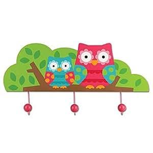 Portemanteau mural en bois//// crochets porte-manteaux pour enfant chouette// accessoires/chouette hibou/nuit owls