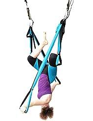 Das leben Hamaca Correa volar para Yoga Pilates gimnasia aérea (azul)