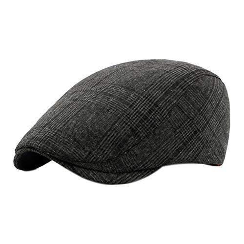 Leisial Boinas de Algodón para Hombre Mujer Retro Celosía Gorra de Deporte Hat Flat para Primavera Verano