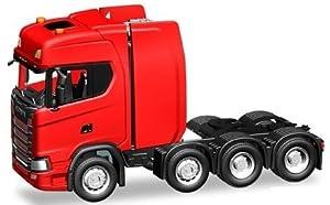Herpa 308601 Scania CS HD - Tractor rígido Resistente, Color Rojo