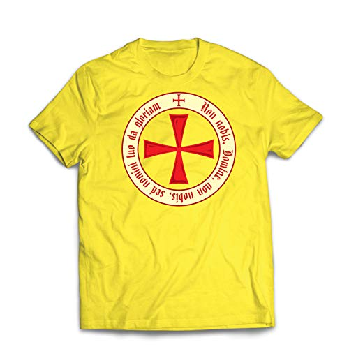lepni.me Männer T-Shirt Der christliche Ritterorden der Tempelritter, Kreuzritter Kreuz (XX-Large Gelb Mehrfarben)