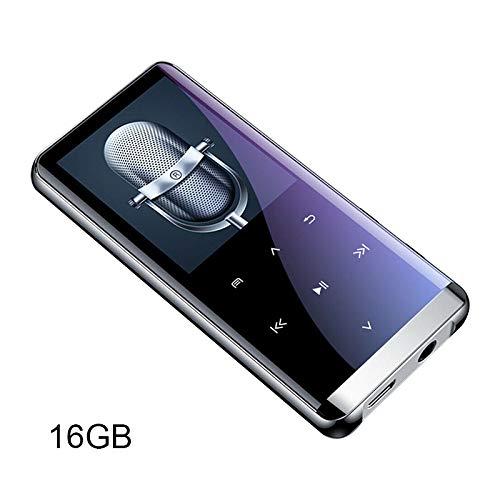 Leobtain MP3 Player 1.8IN 3D Curved Screen 64GB Drahtloses Bluetooth 4.2 Millisekunden Niveau Touch Digital Audio Portable HiFi Lossless Sound Musik Player Lautsprecher FM Radio Voice Recorder