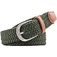 JIER Liquidación Cinturón Trenzado Elástico, 3.5 cm Ancho Cinturón De Estiramiento, 2020 Tejido de Punto Cinturon Mujeres Elastico Cinturon Hombres Elastico