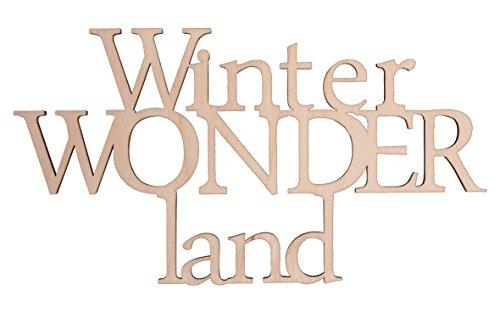Holzschrift Toller winterlicher Spruch aus Holz geschnitten