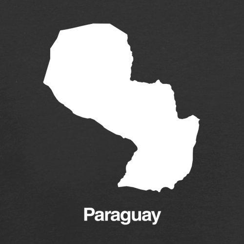 Paraguay / Republik Paraguay Silhouette - Herren T-Shirt - 13 Farben Schwarz
