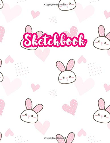 Sketchbook: Cute Drawing Note Pad and Sketch Book for Kids, Girls and Adult - Large 8.5 x 11 Matte Cover with White Interior (Perfect for Sketching, ... Write and Draw Journal and Notebook)