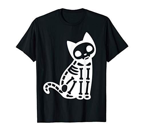Kostüm Katze Skelett - Skelett Katze Halloween Kostüm T-Shirt