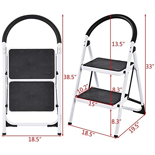 SHIJING Klapphocker Hochleistungsindustrieller Leichter 2-Stufenleiter-Wohnmöbel-Stufenhocker