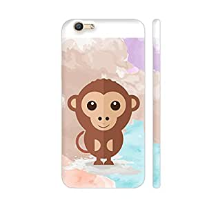 Colorpur Cute Monkey Printed Back Case Cover for Vivo Y66