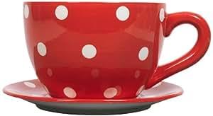 Ethos blumentopf riesige tasse und untertasse rot mit for Blumentopf rot