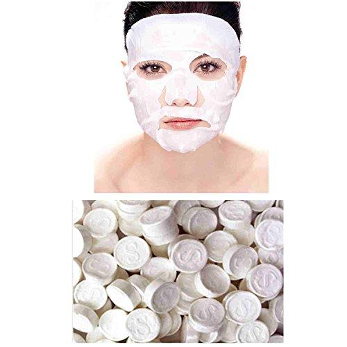 Vococal® 100pcs Coton Compressé Masque Facial DIY Papier Soins de la Peau