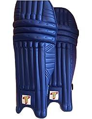Totalmente de críquet azul color espinilleras para bateador de críquet/piernas, Mens, diestros