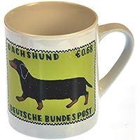 Dorkie - 1st Class Mug - Magpie Mug by Charlotte Farmer - Dachshund & Yorkshire Terrier