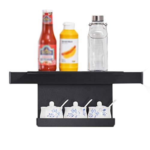 Küchenregal Zwerg Aluminium Schwarz Abfluss Lange Tray Wand-montiert Multi-Funktion Lagerung Haushalt Punch Free CHENGYI -